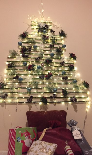 home made christmas tree 2017 the kitchen in apt a201